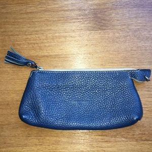 Dooney Bourke Blue Leather Pouch